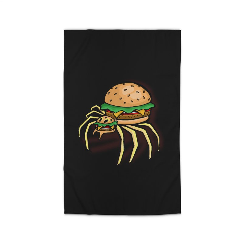 Cheeseburger Spider Home Rug by Angela Tarantula