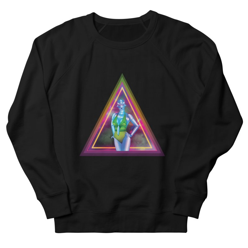 Sexy Robot Women's French Terry Sweatshirt by Angela Tarantula