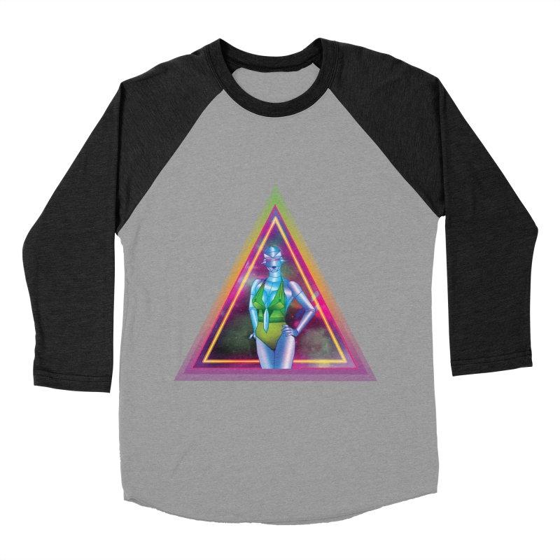 Sexy Robot Men's Baseball Triblend Longsleeve T-Shirt by Angela Tarantula