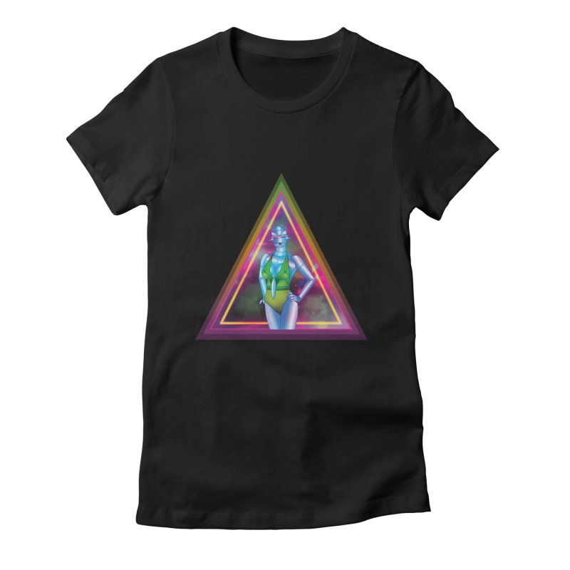 Sexy Robot Women's Fitted T-Shirt by Angela Tarantula