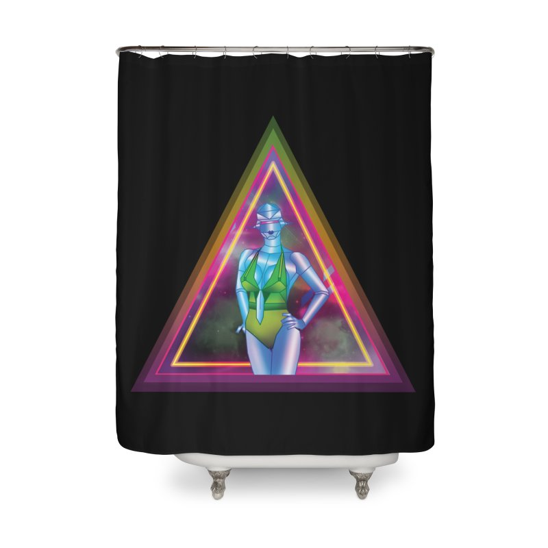 Sexy Robot Home Shower Curtain by Angela Tarantula