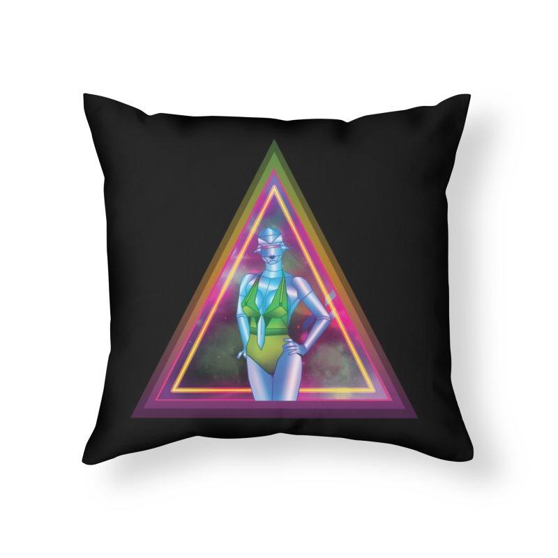 Sexy Robot Home Throw Pillow by Angela Tarantula