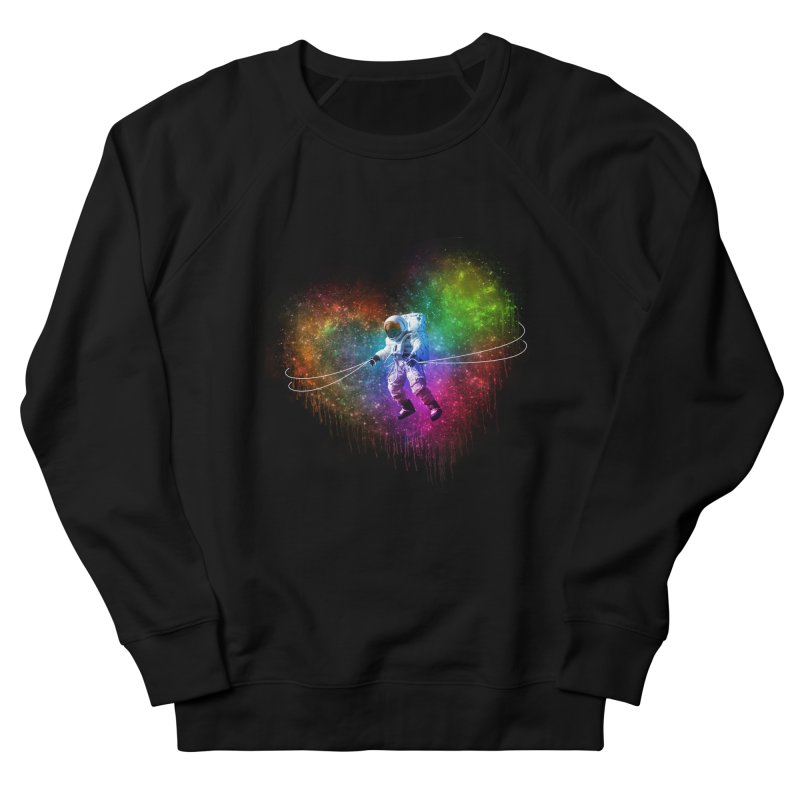 Cosmic Wrangler Men's French Terry Sweatshirt by Angela Tarantula