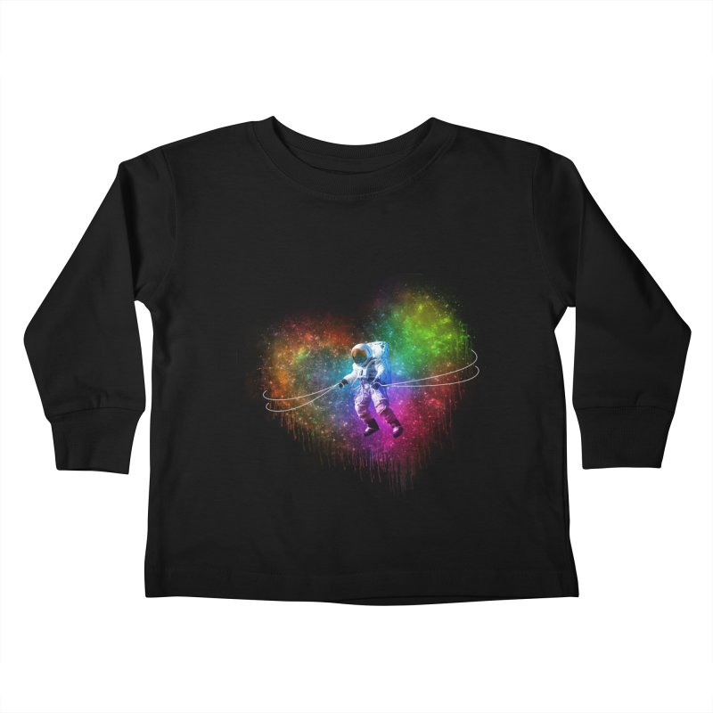 Cosmic Wrangler Kids Toddler Longsleeve T-Shirt by Angela Tarantula