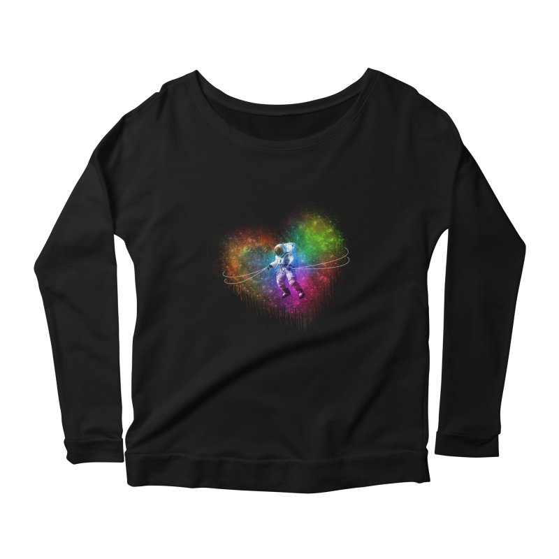 Cosmic Wrangler Women's Scoop Neck Longsleeve T-Shirt by Angela Tarantula