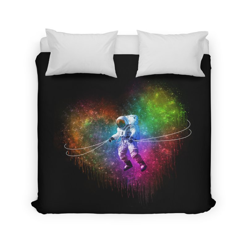 Cosmic Wrangler Home Duvet by Angela Tarantula