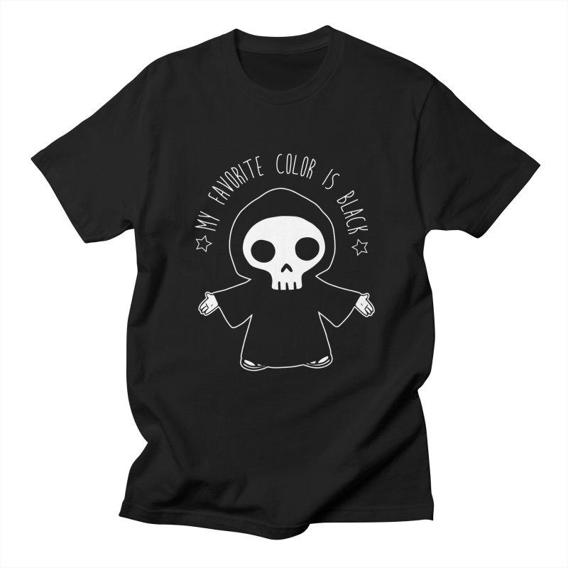 My Favorite Color is Black Men's T-Shirt by Angela Tarantula
