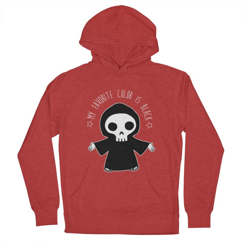 My Favorite Color is Black Women's French Terry Pullover Hoody by Angela Tarantula