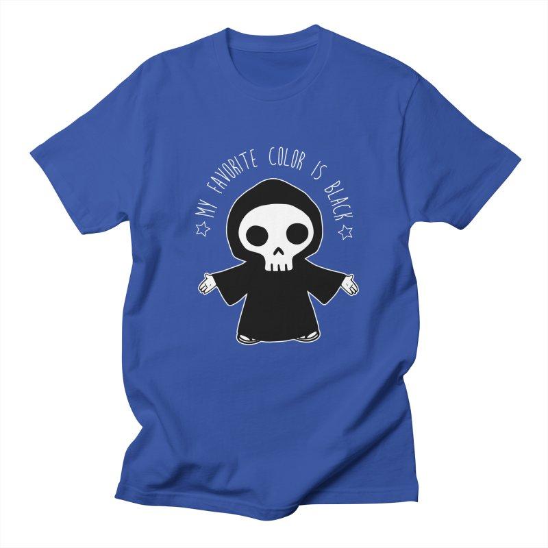 My Favorite Color is Black Women's Regular Unisex T-Shirt by Angela Tarantula