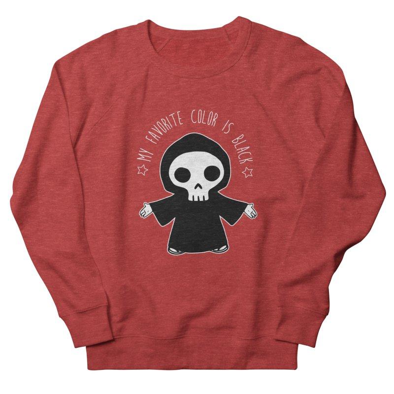 My Favorite Color is Black Women's French Terry Sweatshirt by Angela Tarantula
