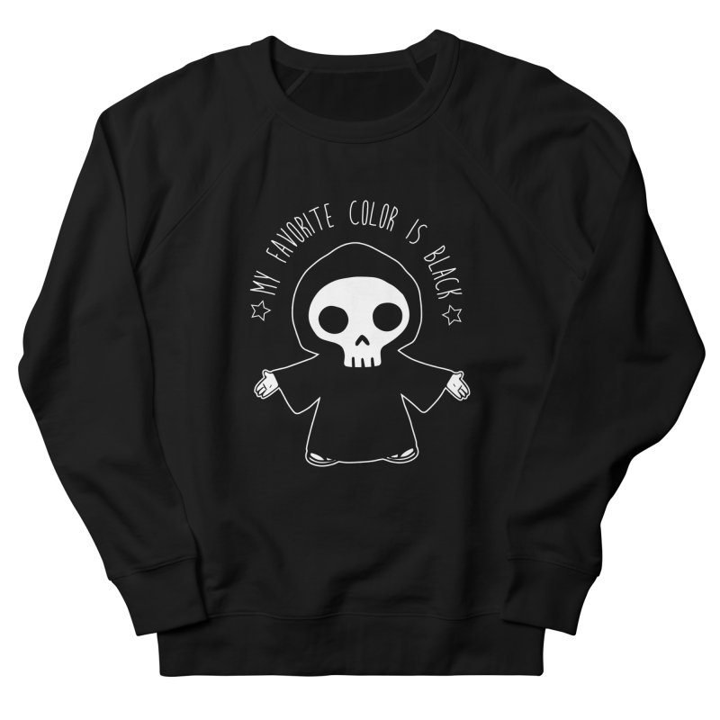 My Favorite Color is Black Men's French Terry Sweatshirt by Angela Tarantula
