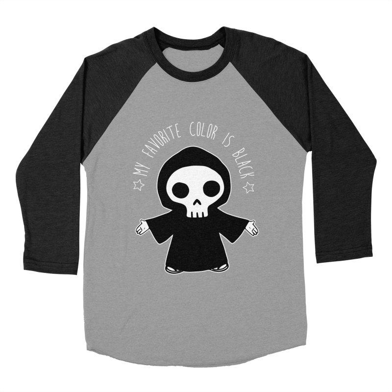 My Favorite Color is Black Women's Baseball Triblend Longsleeve T-Shirt by Angela Tarantula