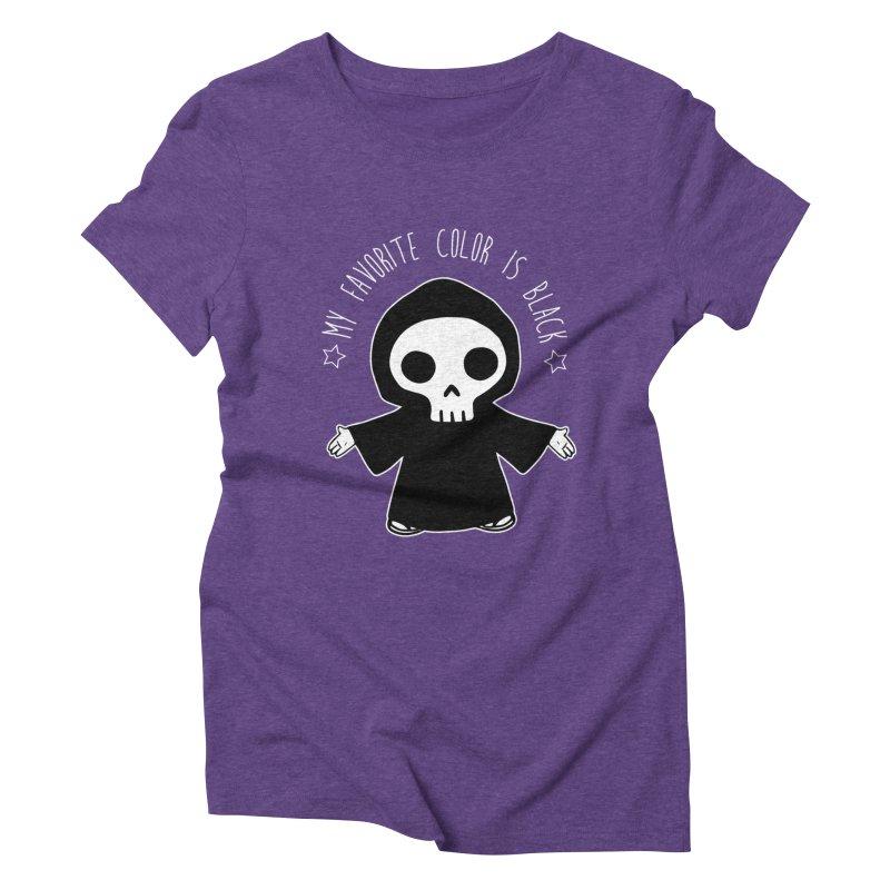 My Favorite Color is Black Women's Triblend T-Shirt by Angela Tarantula