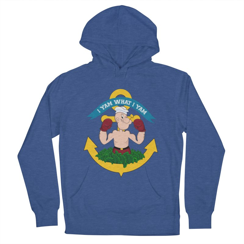 I Yam What I Yam  Men's French Terry Pullover Hoody by Angela Tarantula