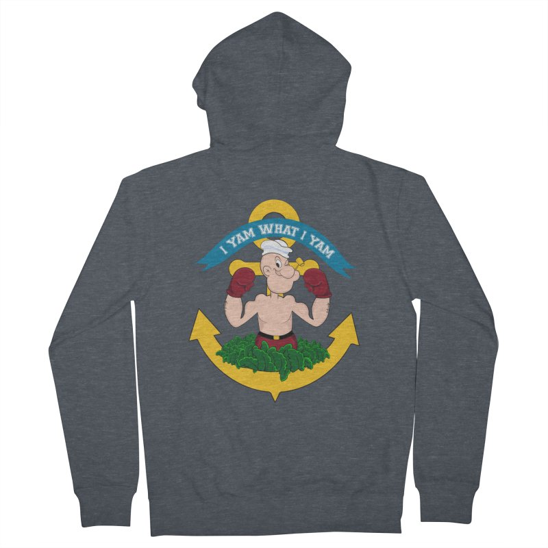 I Yam What I Yam  Men's French Terry Zip-Up Hoody by Angela Tarantula