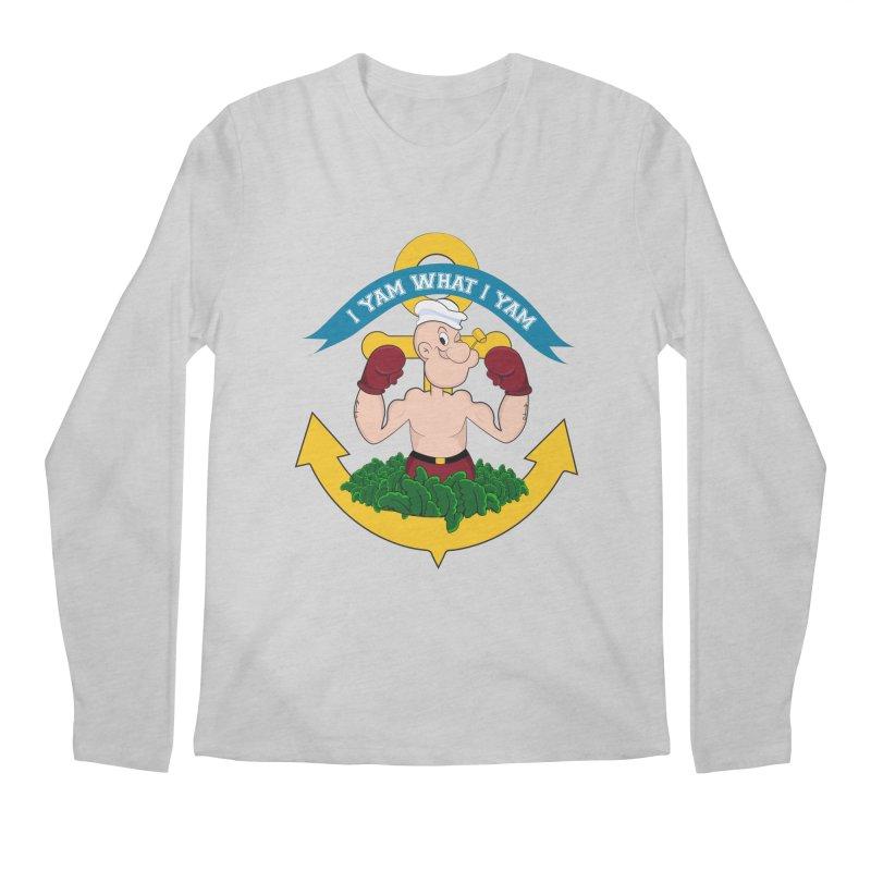 I Yam What I Yam  Men's Regular Longsleeve T-Shirt by Angela Tarantula