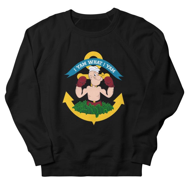 I Yam What I Yam  Men's French Terry Sweatshirt by Angela Tarantula