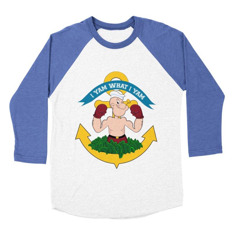 I Yam What I Yam  Women's Baseball Triblend T-Shirt by Angela Tarantula
