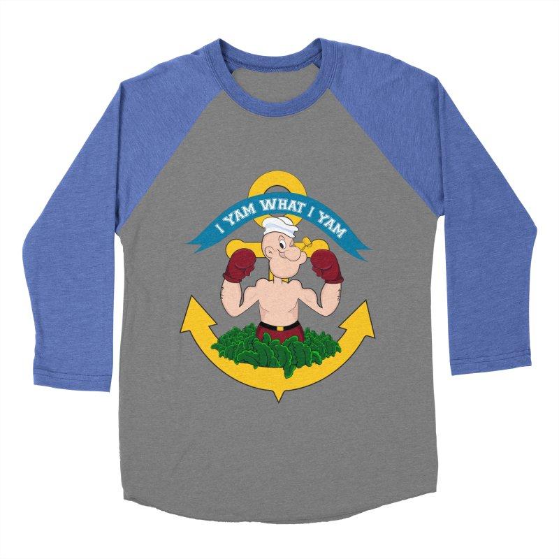 I Yam What I Yam  Women's Baseball Triblend Longsleeve T-Shirt by Angela Tarantula