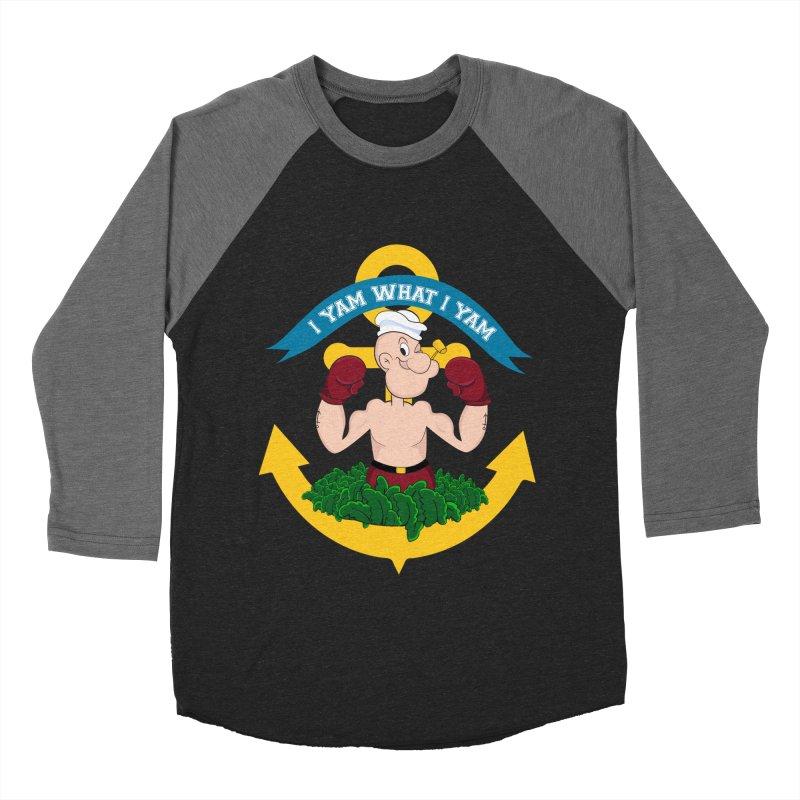 I Yam What I Yam  Men's Baseball Triblend Longsleeve T-Shirt by Angela Tarantula