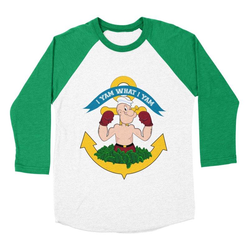 I Yam What I Yam  Men's Baseball Triblend T-Shirt by Angela Tarantula