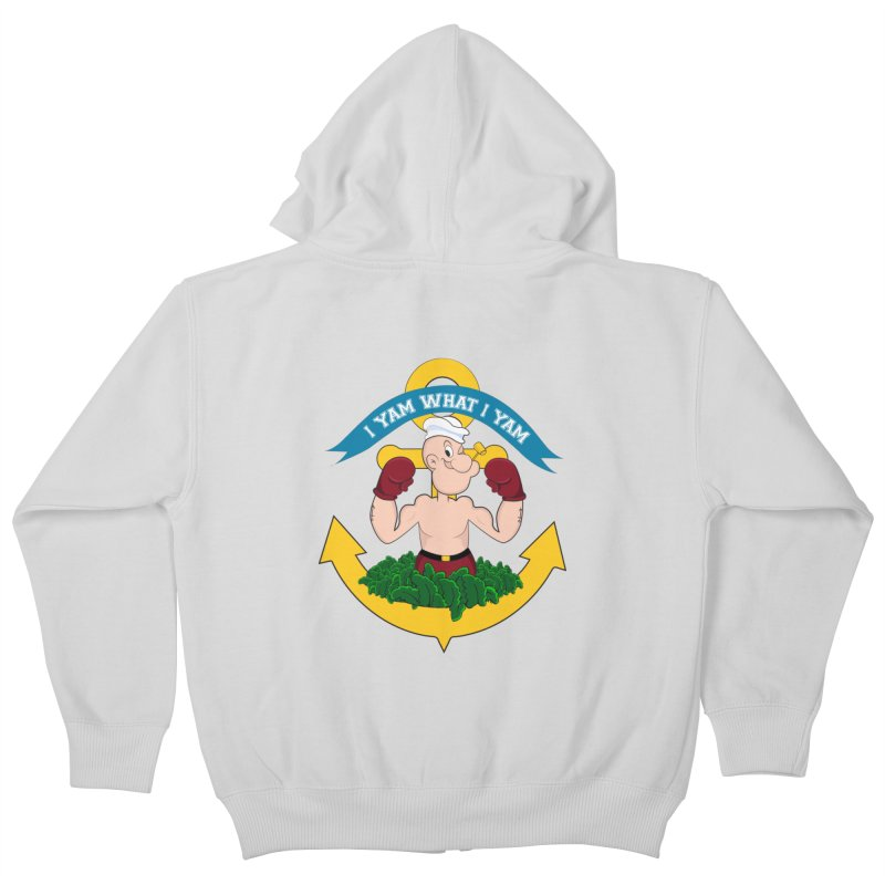 I Yam What I Yam  Kids Zip-Up Hoody by Angela Tarantula