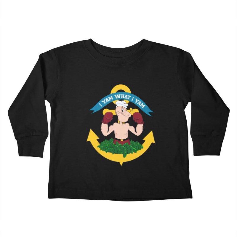 I Yam What I Yam  Kids Toddler Longsleeve T-Shirt by Angela Tarantula