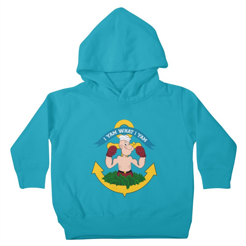 I Yam What I Yam  Kids Toddler Pullover Hoody by Angela Tarantula