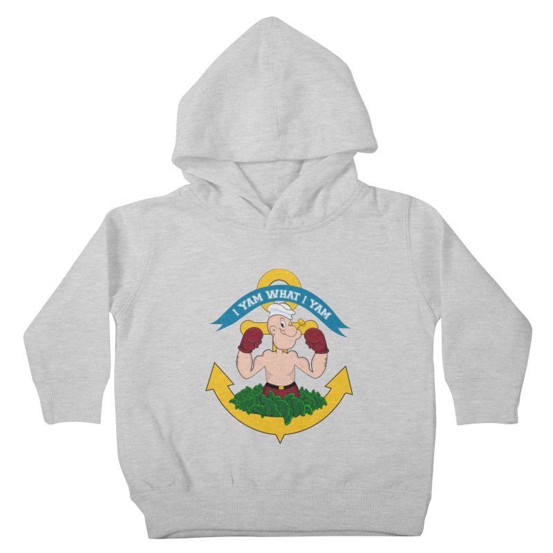 I Yam What I Yam  Kids Toddler Pullover Hoody by Angela Tarantula