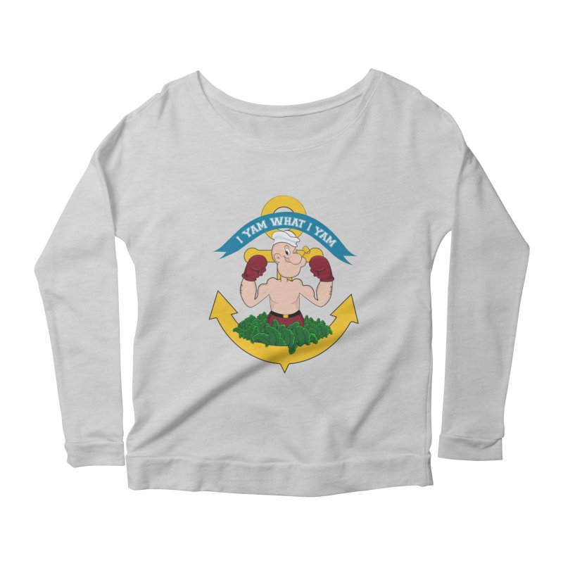 I Yam What I Yam  Women's Scoop Neck Longsleeve T-Shirt by Angela Tarantula