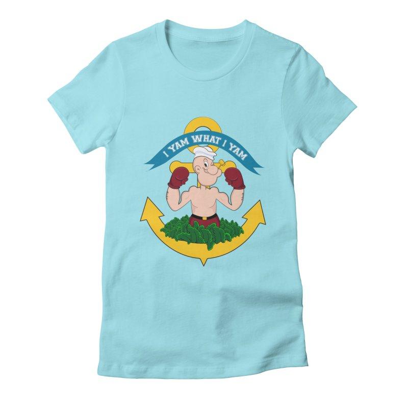 I Yam What I Yam  Women's Fitted T-Shirt by Angela Tarantula