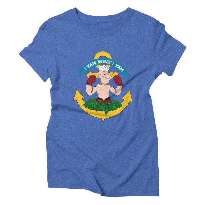 I Yam What I Yam  Women's Triblend T-Shirt by Angela Tarantula