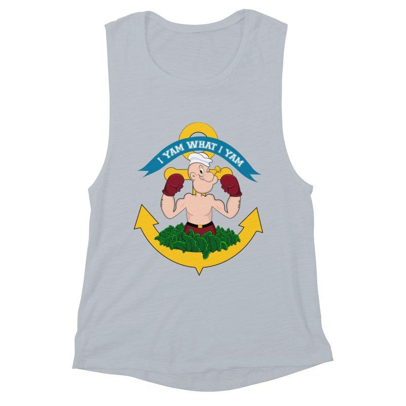 I Yam What I Yam  Women's Muscle Tank by Angela Tarantula