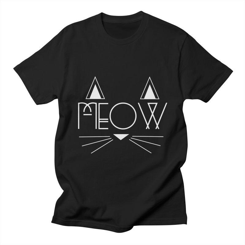 MEOW Men's T-Shirt by Angela Tarantula