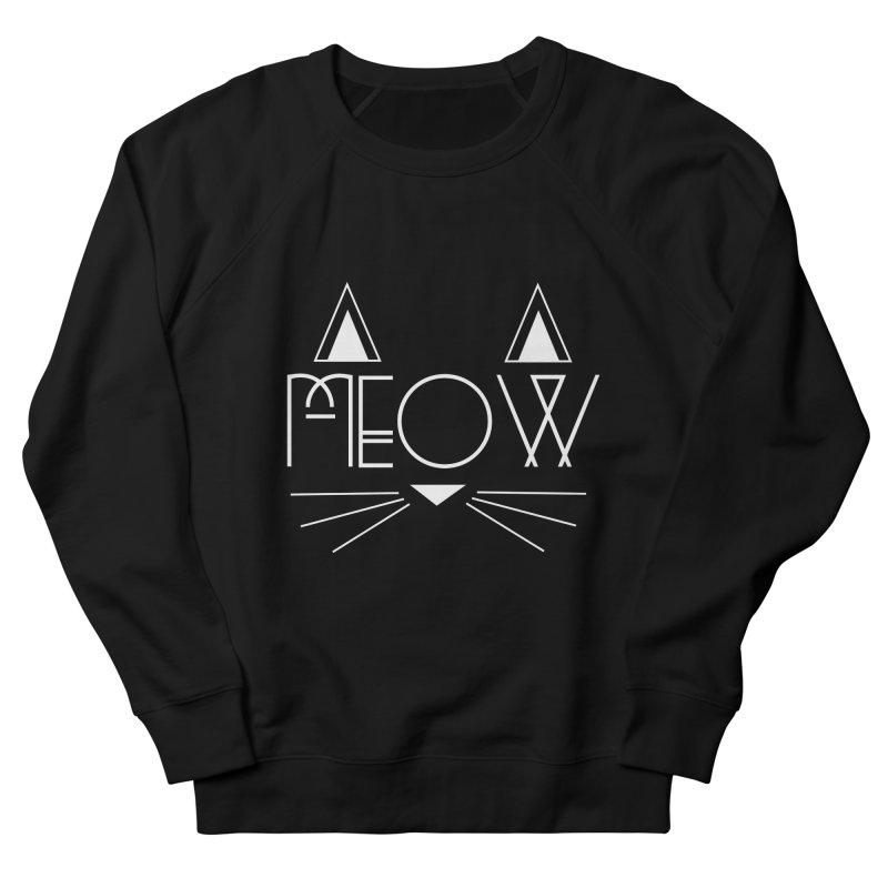 MEOW Women's French Terry Sweatshirt by Angela Tarantula