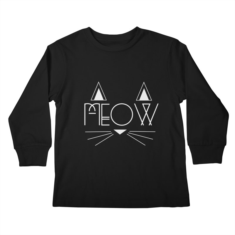 MEOW Kids Longsleeve T-Shirt by Angela Tarantula