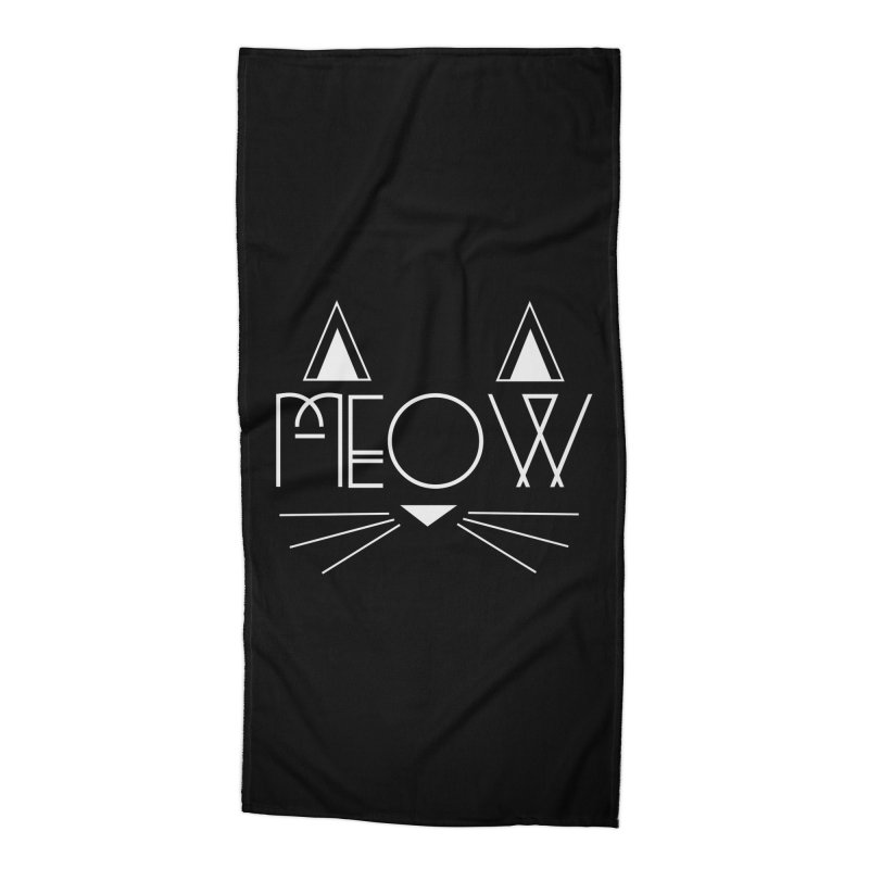 MEOW Accessories Beach Towel by Angela Tarantula