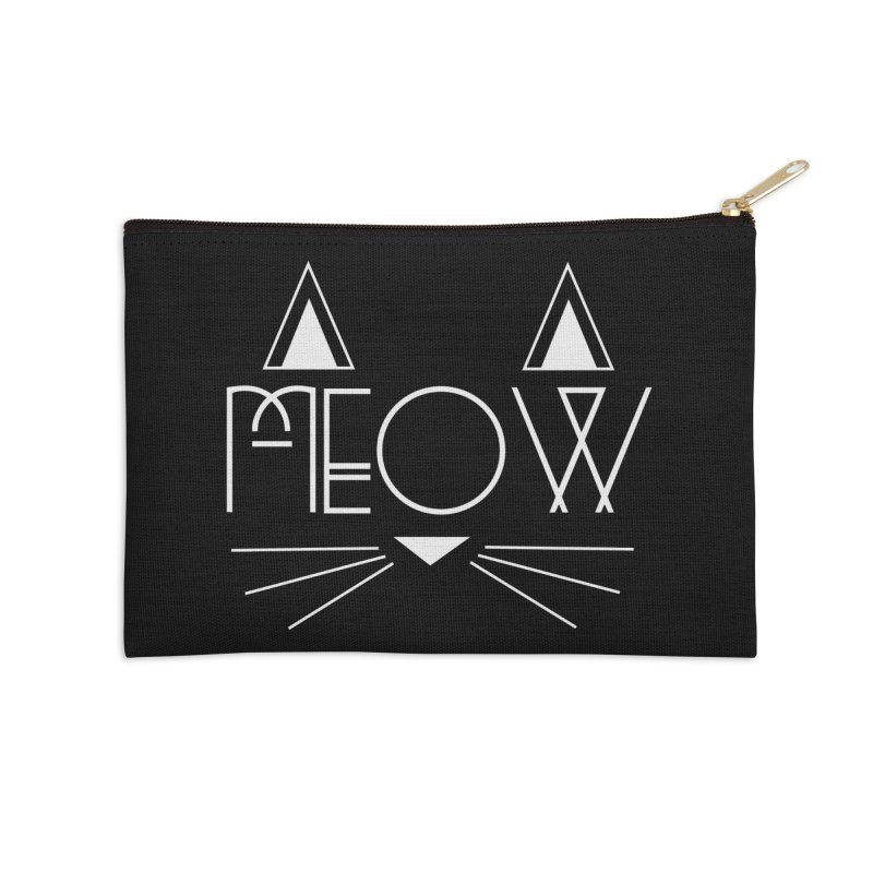 MEOW Accessories Zip Pouch by Angela Tarantula