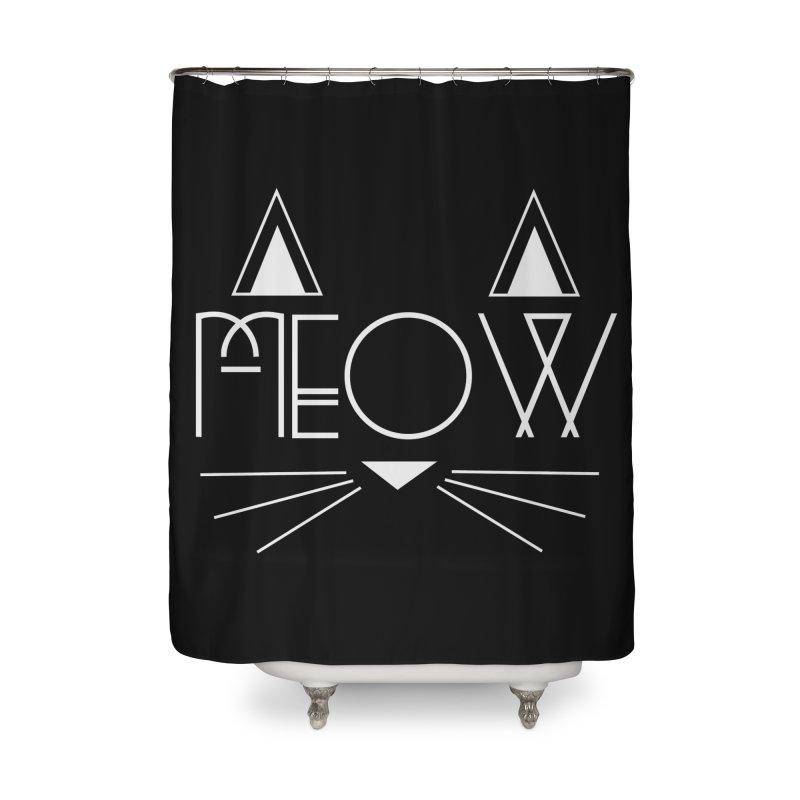 MEOW Home Shower Curtain by Angela Tarantula