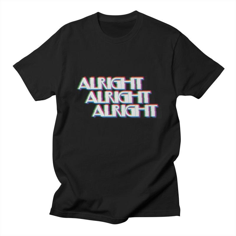 Alright Alright Alright Men's T-Shirt by Angela Tarantula