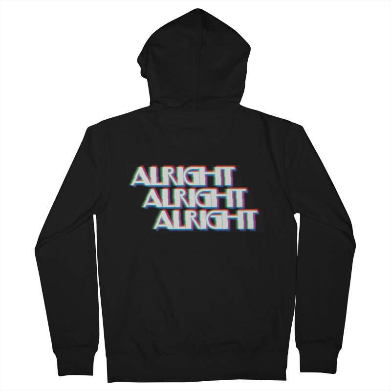 Alright Alright Alright Men's French Terry Zip-Up Hoody by Angela Tarantula