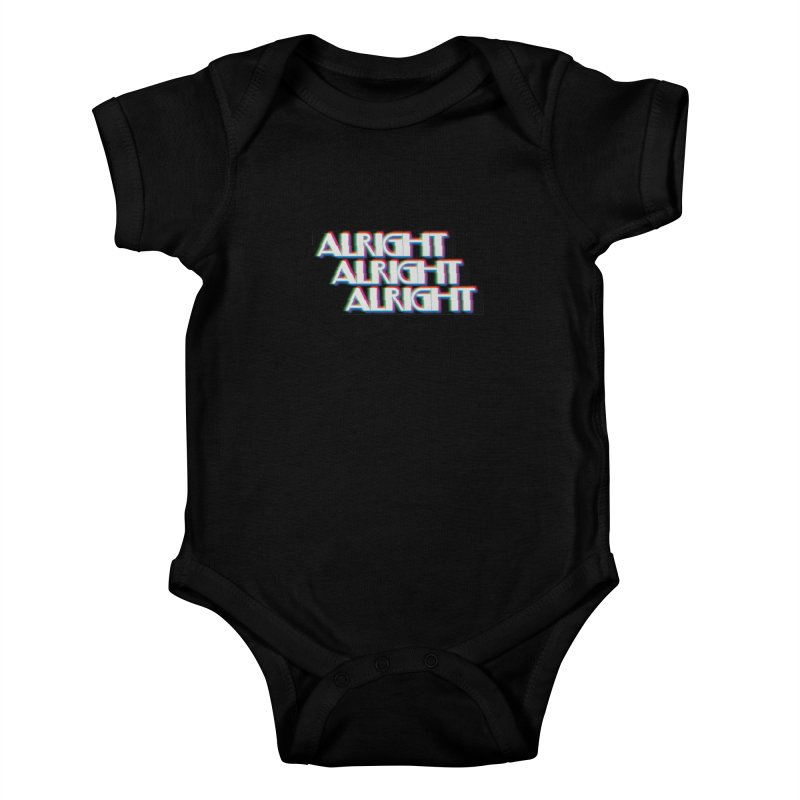 Alright Alright Alright Kids Baby Bodysuit by Angela Tarantula