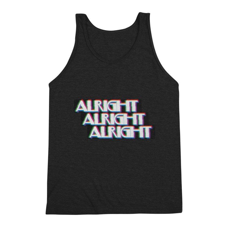 Alright Alright Alright Men's Triblend Tank by Angela Tarantula