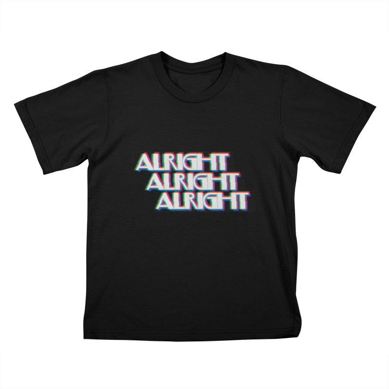 Alright Alright Alright Kids Toddler T-Shirt by Angela Tarantula