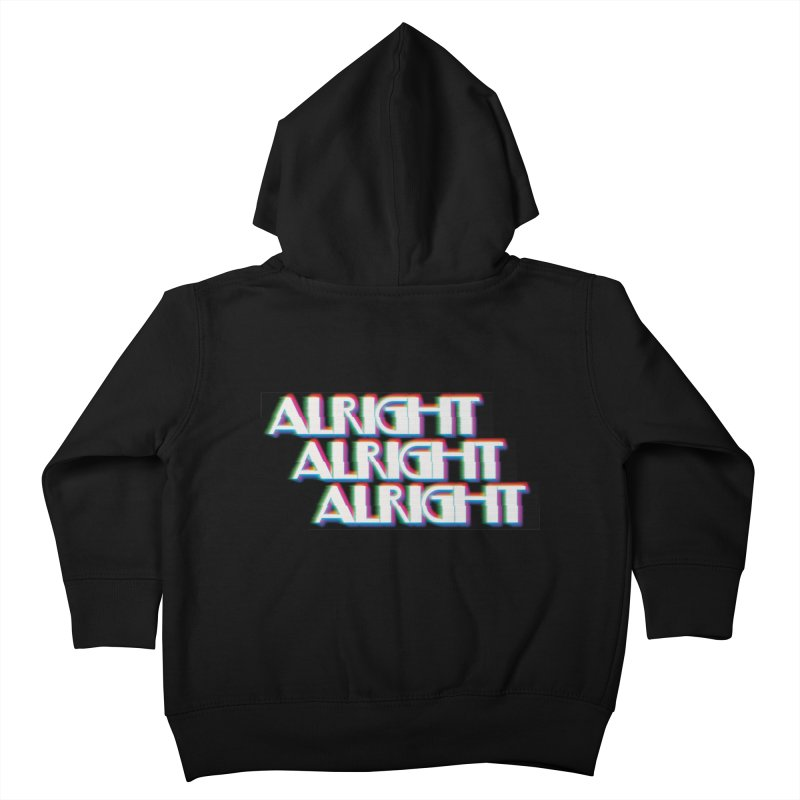 Alright Alright Alright Kids Toddler Zip-Up Hoody by Angela Tarantula
