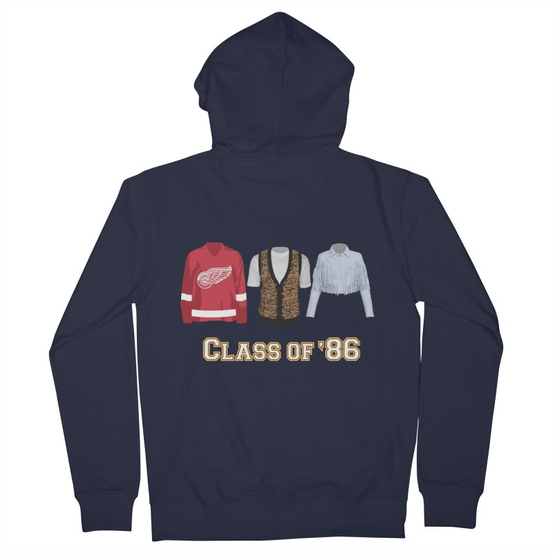 Class of '86 Men's French Terry Zip-Up Hoody by Angela Tarantula