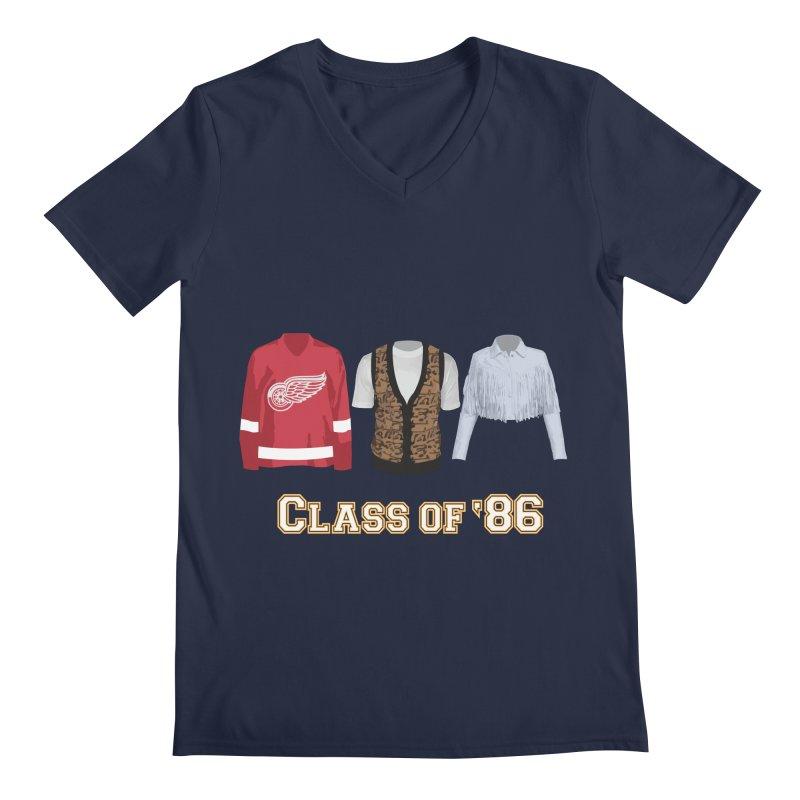 Class of '86 Men's Regular V-Neck by Angela Tarantula