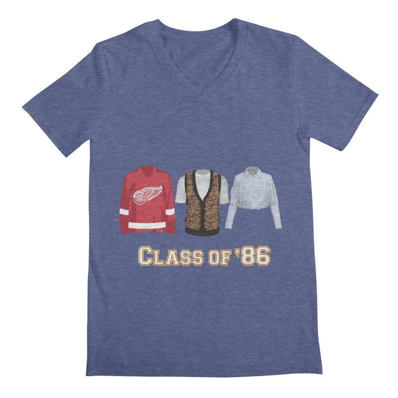 Class of '86 Men's Regular V-Neck by Angela Tarantula