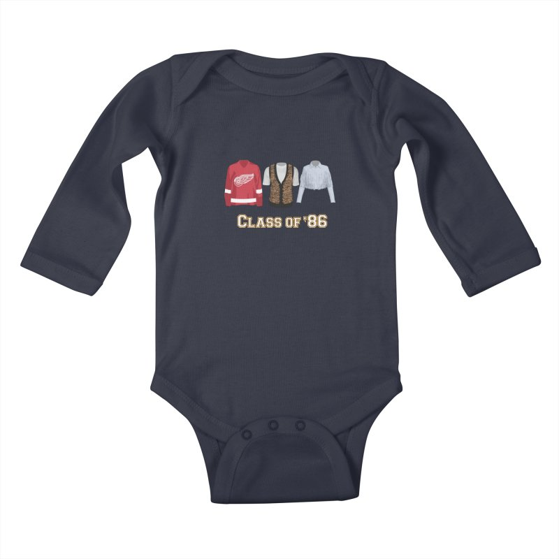 Class of '86 Kids Baby Longsleeve Bodysuit by Angela Tarantula