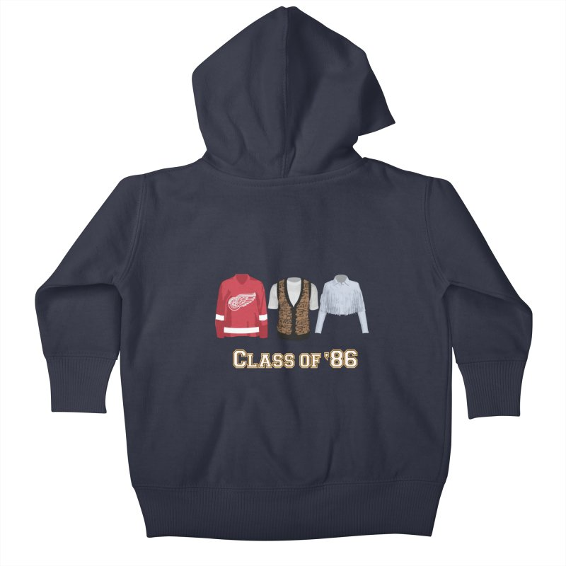 Class of '86 Kids Baby Zip-Up Hoody by Angela Tarantula